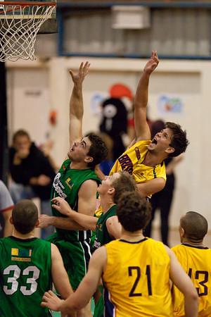 """Garrett Scheibner - QBL Quarter Final Basketball: Gold Coast Rollers v Brisbane Capitals; Carrara, Gold Coast, Queensland, Australia. Photos by Des Thureson:  <a href=""""http://disci.smugmug.com"""">http://disci.smugmug.com</a>."""