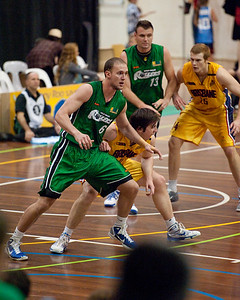 Peter Alexander, Matthew Roberts - QBL Quarter Final Basketball: Gold Coast Rollers v Brisbane Capitals; Carrara, Gold Coast, Queensland, Australia. Photos by Des Thureson:  http://disci.smugmug.com.