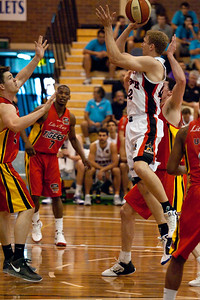 Shawn Redhage - Melbourne Tigers v Perth Wildcats - Sunshine State Challenge Pre-season NBL Basketball, Southport School, Gold Coast, Queensland, Australia; 22 September 2011. Photos by Des Thureson:  http://disci.smugmug.com.