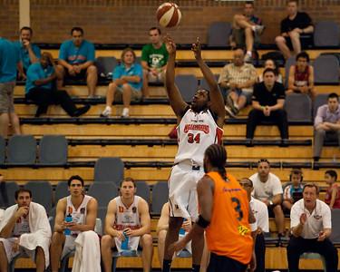 Joevan Catron - Cairns Taipans v Wollongong Hawks - Sunshine State Challenge Pre-season NBL Basketball, Southport School, Gold Coast, Queensland, Australia; 22 September 2011. Photos by Des Thureson:  http://disci.smugmug.com.