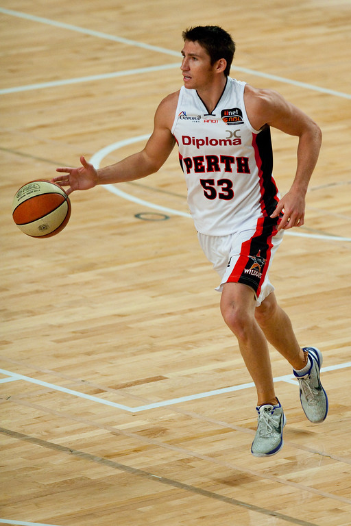 "Damain Martin - Grand Final: Perth Wildcats v Sydney Kings - Finals Day, Sunshine State Challenge Pre-season NBL Basketball, Chandler, Brisbane, Queensland, Australia; Saturday 24 September 2011. Photos by Des Thureson:  <a href=""http://disci.smugmug.com"">http://disci.smugmug.com</a>."