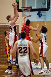Luke Nevill - Melbourne Tigers v Perth Wildcats - Sunshine State Challenge Pre-season NBL Basketball, Southport School, Gold Coast, Queensland, Australia; 22 September 2011. Photos by Des Thureson:  http://disci.smugmug.com.
