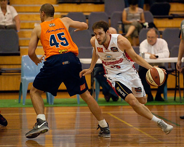 Rhys Martin, Cairns Taipans v Wollongong Hawks - Sunshine State Challenge Pre-season NBL Basketball, Southport School, Gold Coast, Queensland, Australia; 22 September 2011. Photos by Des Thureson:  http://disci.smugmug.com.