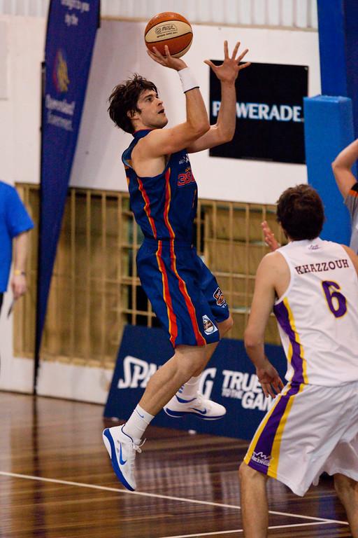 "Stephen Weigh - Sydney Kings v Adelaide Sixers - Sunshine State Challenge Pre-season NBL Basketball, Auchenflower, Brisbane, Queensland, Australia; 23 September 2011. Photos by Des Thureson:  <a href=""http://disci.smugmug.com"">http://disci.smugmug.com</a>."