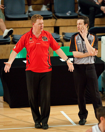Rob Beveridge, Vaughan Mayberry - Grand Final: Perth Wildcats v Sydney Kings - Finals Day, Sunshine State Challenge Pre-season NBL Basketball, Chandler, Brisbane, Queensland, Australia; Saturday 24 September 2011. Photos by Des Thureson:  http://disci.smugmug.com.