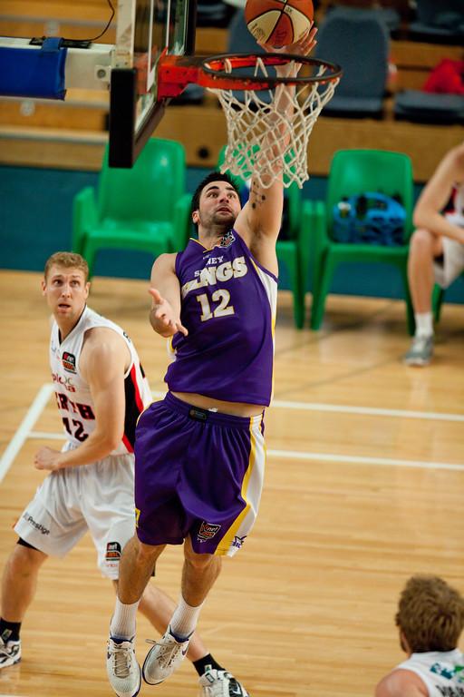 """Alex Gynes - Grand Final: Perth Wildcats v Sydney Kings - Finals Day, Sunshine State Challenge Pre-season NBL Basketball, Chandler, Brisbane, Queensland, Australia; Saturday 24 September 2011. Photos by Des Thureson:  <a href=""""http://disci.smugmug.com"""">http://disci.smugmug.com</a>."""