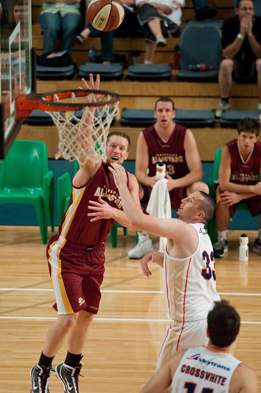 "Dean Brebner, Ash Cannon - Cairns Taipans v SEQ All Stars - Finals Day, Sunshine State Challenge Pre-season NBL Basketball, Chandler, Brisbane, Queensland, Australia; Saturday 24 September 2011. Photos by Des Thureson:  <a href=""http://disci.smugmug.com"">http://disci.smugmug.com</a>."