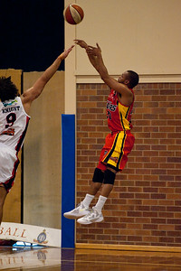 Patty Mills - Melbourne Tigers v Perth Wildcats - Sunshine State Challenge Pre-season NBL Basketball, Southport School, Gold Coast, Queensland, Australia; 22 September 2011. Photos by Des Thureson:  http://disci.smugmug.com.