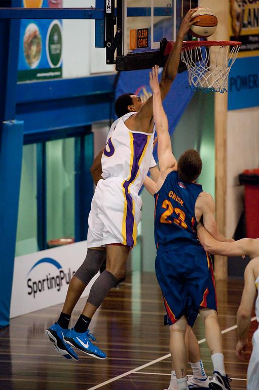 "Martin Iti - Sydney Kings v Adelaide Sixers - Sunshine State Challenge Pre-season NBL Basketball, Auchenflower, Brisbane, Queensland, Australia; 23 September 2011. Photos by Des Thureson:  <a href=""http://disci.smugmug.com"">http://disci.smugmug.com</a>."