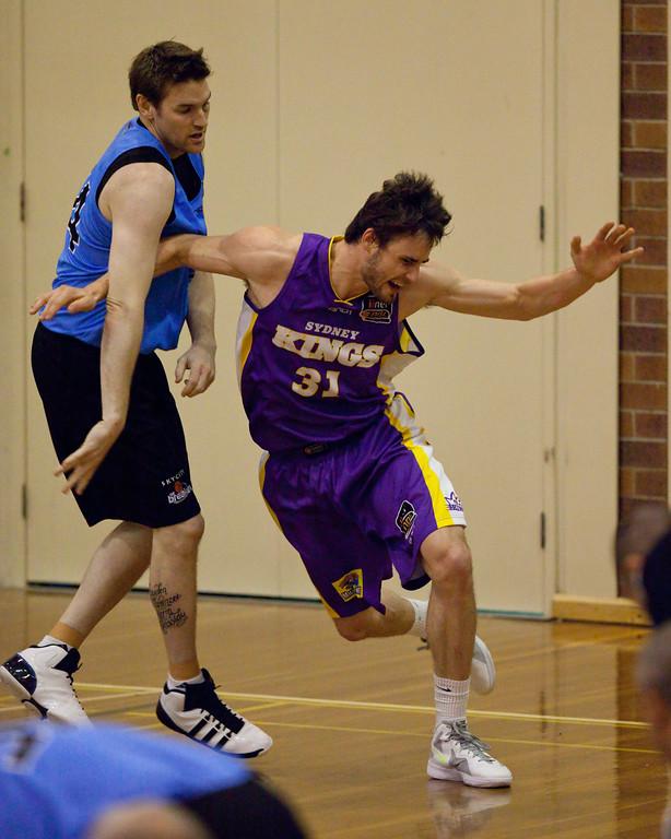 "Anatoly Bose, Dillon Boucher - Sydney Kings v New Zealand Breakers - Sunshine State Challenge Pre-season NBL Basketball, Southport School, Gold Coast, Queensland, Australia; 22 September 2011. Photos by Des Thureson:  <a href=""http://disci.smugmug.com"">http://disci.smugmug.com</a>."