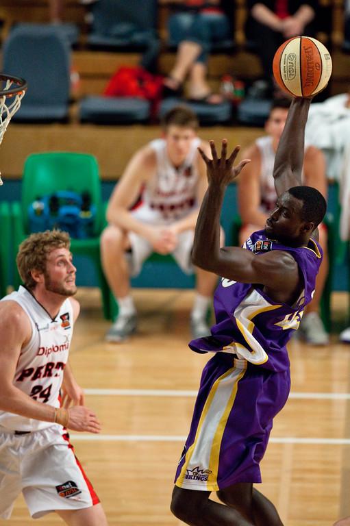 "Jerai Grant - Grand Final: Perth Wildcats v Sydney Kings - Finals Day, Sunshine State Challenge Pre-season NBL Basketball, Chandler, Brisbane, Queensland, Australia; Saturday 24 September 2011. Photos by Des Thureson:  <a href=""http://disci.smugmug.com"">http://disci.smugmug.com</a>."
