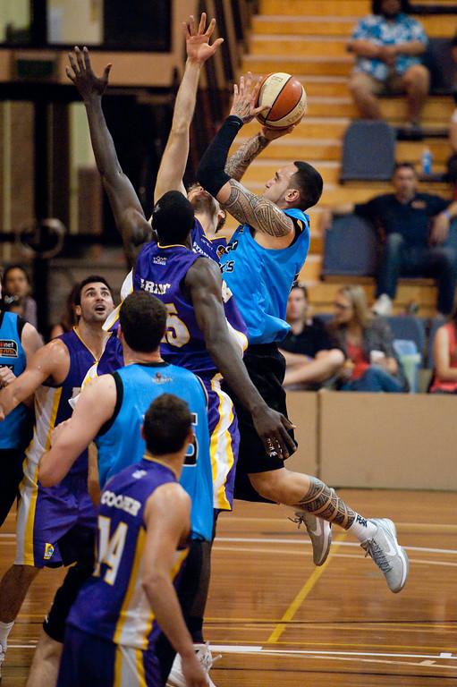 "Leon Henry - Sydney Kings v New Zealand Breakers - Sunshine State Challenge Pre-season NBL Basketball, Southport School, Gold Coast, Queensland, Australia; 22 September 2011. Photos by Des Thureson:  <a href=""http://disci.smugmug.com"">http://disci.smugmug.com</a>."