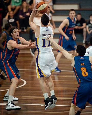 "Sydney Kings v Adelaide Sixers - Sunshine State Challenge Pre-season NBL Basketball, Auchenflower, Brisbane, Queensland, Australia; 23 September 2011. Photos by Des Thureson:  <a href=""http://disci.smugmug.com"">http://disci.smugmug.com</a>."
