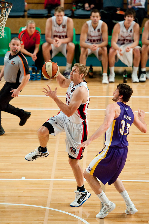 "Grand Final: Perth Wildcats v Sydney Kings - Finals Day, Sunshine State Challenge Pre-season NBL Basketball, Chandler, Brisbane, Queensland, Australia; Saturday 24 September 2011. Photos by Des Thureson:  <a href=""http://disci.smugmug.com"">http://disci.smugmug.com</a>."