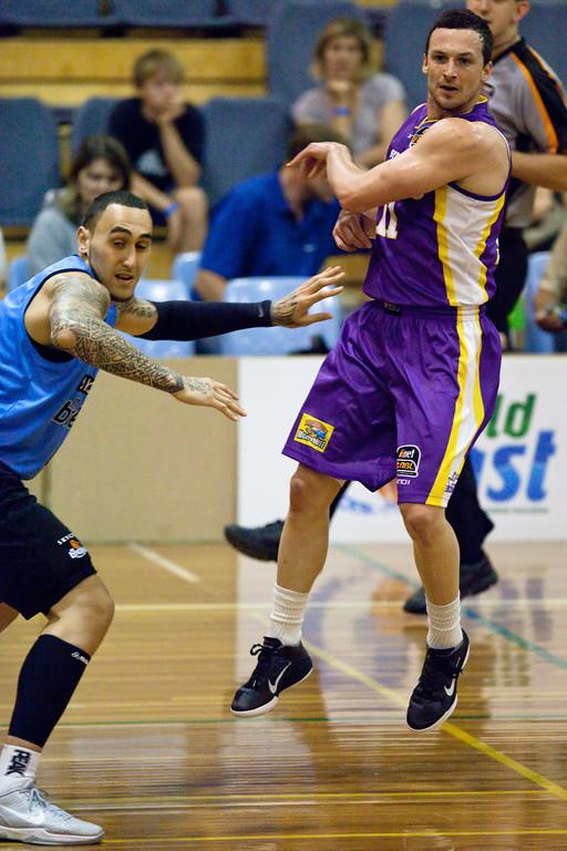 "Sydney Kings v New Zealand Breakers - Sunshine State Challenge Pre-season NBL Basketball, Southport School, Gold Coast, Queensland, Australia; 22 September 2011. Photos by Des Thureson:  <a href=""http://disci.smugmug.com"">http://disci.smugmug.com</a>."