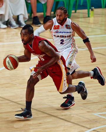 "Cairns Taipans v SEQ All Stars - Finals Day, Sunshine State Challenge Pre-season NBL Basketball, Chandler, Brisbane, Queensland, Australia; Saturday 24 September 2011. Photos by Des Thureson:  <a href=""http://disci.smugmug.com"">http://disci.smugmug.com</a>."