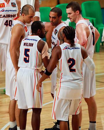 "Cairns Taipans v SEQ All Stars - Finals Day, Sunshine State Challenge Pre-season NBL Basketball, Chandler, Brisbane, Queensland, Australia; Saturday 24 September 2011. Photos by Des Thureson:  <a href=""http://disci.smugmug.com"">http://disci.smugmug.com</a>."