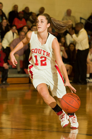 Westerville South High School's (##) Westerville Central High School's (##) in the first period of play at Westerville South High School Saturday night January 22, 2011.