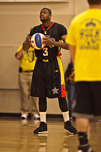 Harlem Wizards against the Reynoldsburg-Pickerington Community All-Stars at the Reynoldsburg High School gymnasium Thursday evening April 14, 2011.  The game was presented by the Reynoldsburg-Pickerington Rotary Club as a fund raiser. (© James D. DeCamp | 614-462-8027 | http://www.OhioPhotojournalist.com)