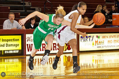 Dublin Scioto High School in the first quarter of play against Westerville North High School Friday night December 16, 2011 at Westerville North High School.  (© James D. DeCamp | http://www.JamesDeCamp.com | 614-367-6366)