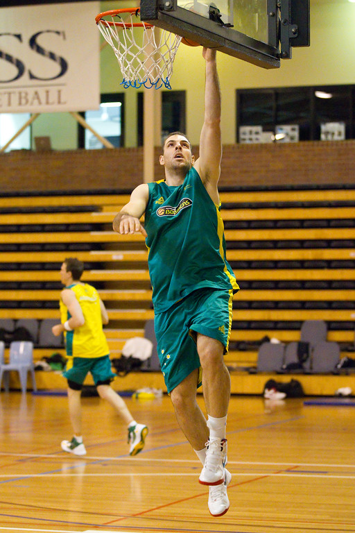 "Aleks Marić -Boomers - Australian Men's Basketball Team Open Training Session, The Southport School, Gold Coast, Queensland, Australia; 12 July 2012. Photos by Des Thureson:  <a href=""http://disci.smugmug.com"">http://disci.smugmug.com</a>."