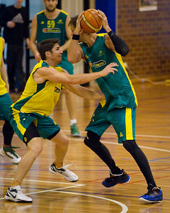 Damian Martin, David Andersen - Boomers - Australian Men's Basketball Team Open Training Session, The Southport School, Gold Coast, Queensland, Australia; 12 July 2012. Photos by Des Thureson:  http://disci.smugmug.com.