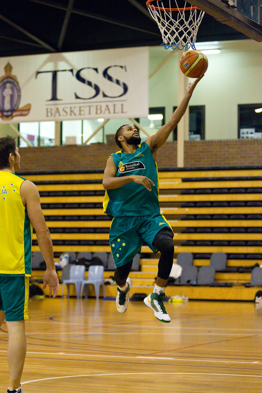 "Patty Mills (Patrick Mills) - Boomers - Australian Men's Basketball Team Open Training Session, The Southport School, Gold Coast, Queensland, Australia; 12 July 2012. Photos by Des Thureson:  <a href=""http://disci.smugmug.com"">http://disci.smugmug.com</a>."