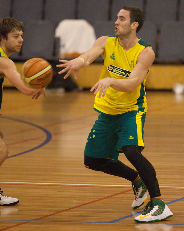"Adam Gibson (""Gibbo"") - Boomers - Australian Men's Basketball Team Open Training Session, The Southport School, Gold Coast, Queensland, Australia; 12 July 2012. Photos by Des Thureson:  <a href=""http://disci.smugmug.com"">http://disci.smugmug.com</a>."
