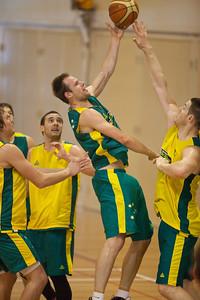 Brad Newley, Aron Baynes - Boomers - Australian Men's Basketball Team Open Training Session, The Southport School, Gold Coast, Queensland, Australia; 12 July 2012. Photos by Des Thureson:  http://disci.smugmug.com.