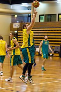 Adam Gibson - Gibbo - Boomers - Australian Men's Basketball Team Open Training Session, The Southport School, Gold Coast, Queensland, Australia; 12 July 2012. Photos by Des Thureson:  http://disci.smugmug.com.