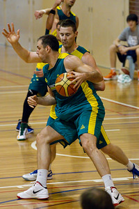Aleks Marić, Aron Baynes - Boomers - Australian Men's Basketball Team Open Training Session, The Southport School, Gold Coast, Queensland, Australia; 12 July 2012. Photos by Des Thureson:  http://disci.smugmug.com.