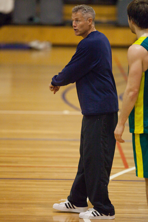 "Boomers Head Coach Brett Brown - Boomers - Australian Men's Basketball Team Open Training Session, The Southport School, Gold Coast, Queensland, Australia; 12 July 2012. Photos by Des Thureson:  <a href=""http://disci.smugmug.com"">http://disci.smugmug.com</a>."