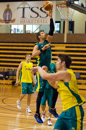 "David Andersen - Boomers - Australian Men's Basketball Team Open Training Session, The Southport School, Gold Coast, Queensland, Australia; 12 July 2012. Photos by Des Thureson:  <a href=""http://disci.smugmug.com"">http://disci.smugmug.com</a>."