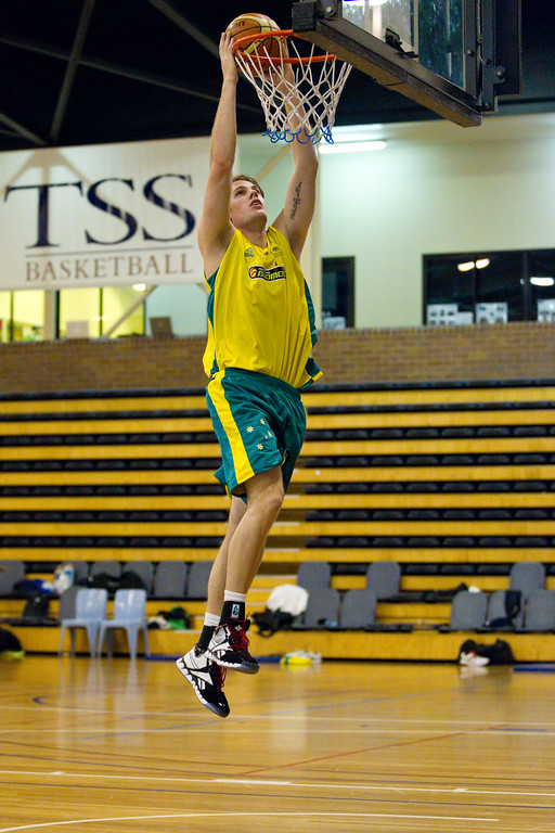 "Boomers - Australian Men's Basketball Team Open Training Session, The Southport School, Gold Coast, Queensland, Australia; 12 July 2012. Photos by Des Thureson:  <a href=""http://disci.smugmug.com"">http://disci.smugmug.com</a>."