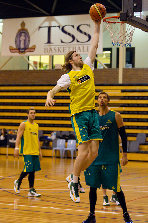 "David Barlow - Boomers - Australian Men's Basketball Team Open Training Session, The Southport School, Gold Coast, Queensland, Australia; 12 July 2012. Photos by Des Thureson:  <a href=""http://disci.smugmug.com"">http://disci.smugmug.com</a>."