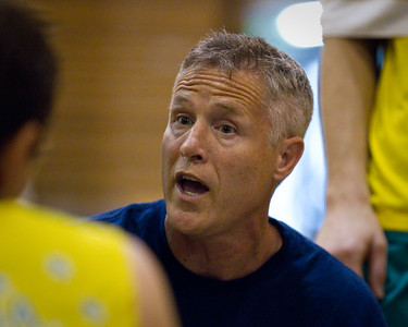 Boomers' Head Coach (Assistant Coach of the San Antonio Spurs in the NBA) Brett Brown - Boomers - Australian Men's Basketball Team Open Training Session, The Southport School, Gold Coast, Queensland, Australia; 12 July 2012. Photos by Des Thureson:  http://disci.smugmug.com.