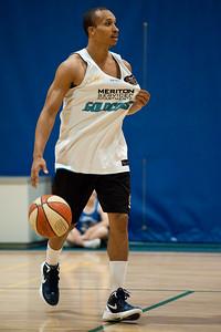 Adris Deleon - Gold Coast Blaze Basketball Open Training Session; Boondall, Brisbane, Queensland, Australia; 18 February 2012. Photos by Des Thureson - http://disci.smugmug.com.