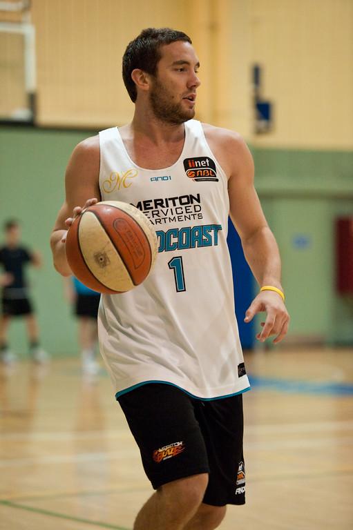 "Adam Gibson - Gold Coast Blaze Basketball Open Training Session; Boondall, Brisbane, Queensland, Australia; 18 February 2012. Photos by Des Thureson - <a href=""http://disci.smugmug.com"">http://disci.smugmug.com</a>."