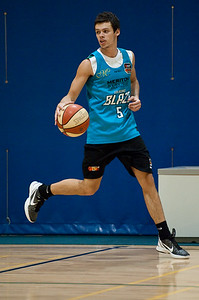 Jason Cadee - Gold Coast Blaze Basketball Open Training Session; Boondall, Brisbane, Queensland, Australia; 18 February 2012. Photos by Des Thureson - http://disci.smugmug.com.