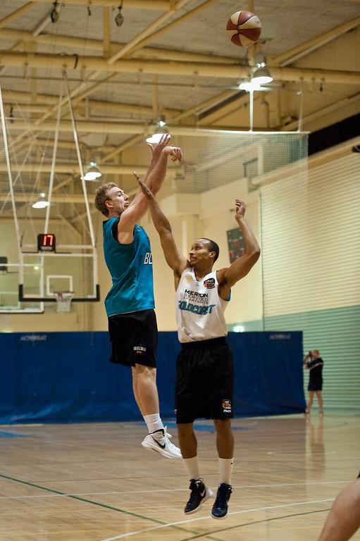 "Brendan Teys - Gold Coast Blaze Basketball Open Training Session; Boondall, Brisbane, Queensland, Australia; 18 February 2012. Photos by Des Thureson - <a href=""http://disci.smugmug.com"">http://disci.smugmug.com</a>."