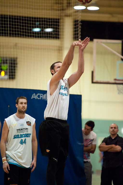 """Anthony Petrie - Gold Coast Blaze Basketball Open Training Session; Boondall, Brisbane, Queensland, Australia; 18 February 2012. Photos by Des Thureson - <a href=""""http://disci.smugmug.com"""">http://disci.smugmug.com</a>."""