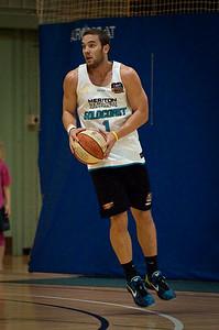 Adam Gibson - Gold Coast Blaze Basketball Open Training Session; Boondall, Brisbane, Queensland, Australia; 18 February 2012. Photos by Des Thureson - http://disci.smugmug.com.