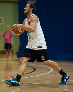 Adam Gibson - Gold Coast Blaze Basketball Open Training Session; Boondall, Brisbane, Queensland, Australia; 18 February 2012. Photos by Des Thureson - http://disci.smugmug.com.