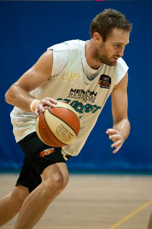 """Mark Worthington (""""Wortho"""") - Gold Coast Blaze Basketball Open Training Session; Boondall, Brisbane, Queensland, Australia; 18 February 2012. Photos by Des Thureson - <a href=""""http://disci.smugmug.com"""">http://disci.smugmug.com</a>."""