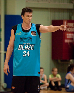 Stephen Hoare - Gold Coast Blaze Basketball Open Training Session; Boondall, Brisbane, Queensland, Australia; 18 February 2012. Photos by Des Thureson - http://disci.smugmug.com.