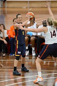 Kristen Veal, Blanche Alverson - Logan Thunder v Auburn University Tigers Women's Basketball; Auchenflower, Brisbane, Queensland, Australia; 07 August 2012. Photos by Des Thureson - http://disci.smugmug.com.