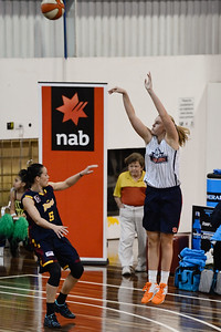 Blanche Alverson, Kristen Veal - Logan Thunder v Auburn University Tigers Women's Basketball; Auchenflower, Brisbane, Queensland, Australia; 07 August 2012. Photos by Des Thureson - http://disci.smugmug.com.