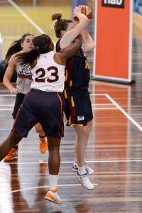 Nicole Tanner, Morgan Pink - Logan Thunder v Auburn University Tigers Women's Basketball; Auchenflower, Brisbane, Queensland, Australia; 07 August 2012. Photos by Des Thureson - http://disci.smugmug.com.