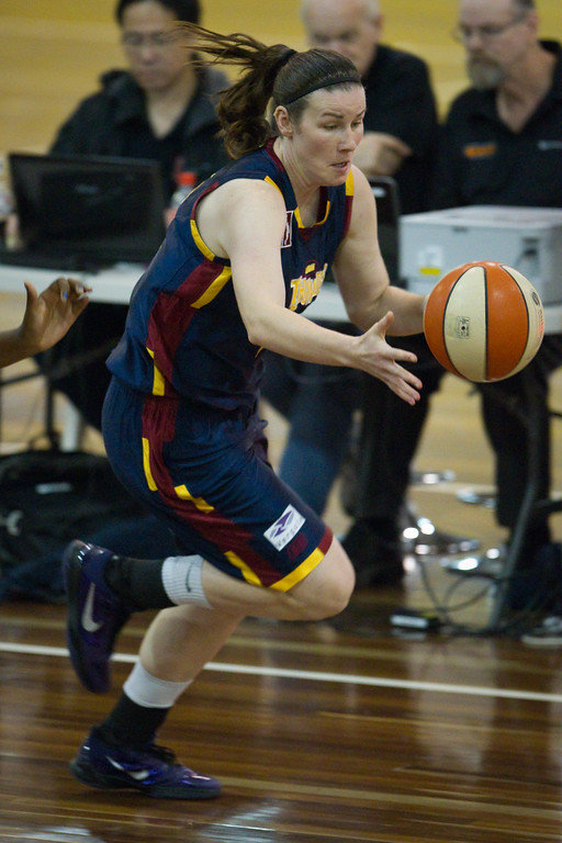 "Hayley Munro - Logan Thunder v Auburn University Tigers Women's Basketball; Auchenflower, Brisbane, Queensland, Australia; 07 August 2012. Photos by Des Thureson - <a href=""http://disci.smugmug.com"">http://disci.smugmug.com</a>."