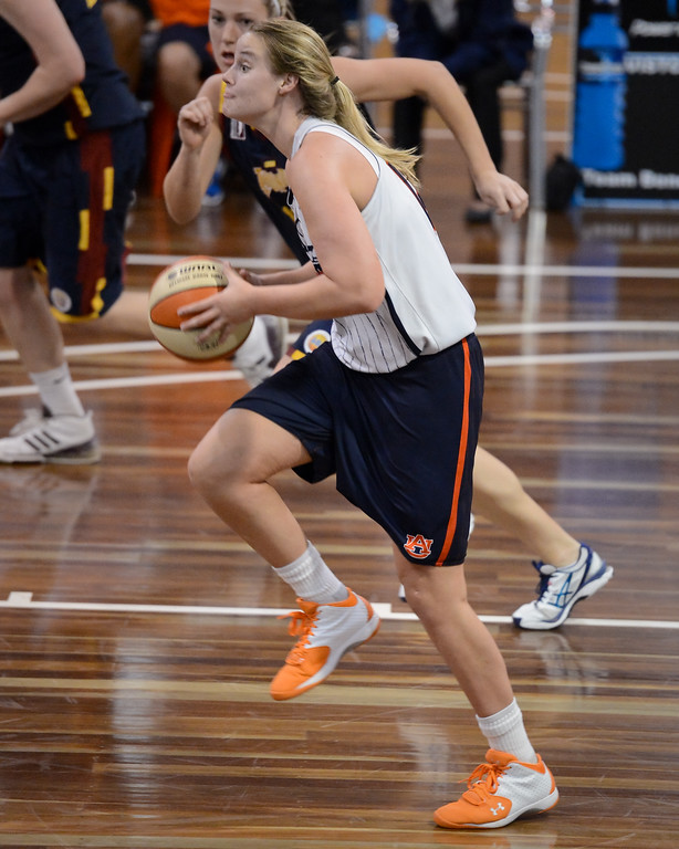 "Blanche Alverson - Logan Thunder v Auburn University Tigers Women's Basketball; Auchenflower, Brisbane, Queensland, Australia; 07 August 2012. Photos by Des Thureson - <a href=""http://disci.smugmug.com"">http://disci.smugmug.com</a>."
